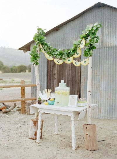 pucker up for this lemonade bar | Photography by troygrover.com |  Event Design and Coordination by facebook.com/pages/Project-Watermark/155779371263967?fref=ts Florals by floraloccasions.com |    View Full Gallery: http://www.stylemepretty.com/gallery/gallery//