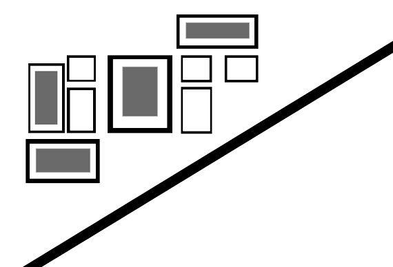trucos para crear efectos visuales, alterar las dimensiones de una pared con composiciones de cuadros #decoideas #walldeco #galleryart #decorarconcuadros