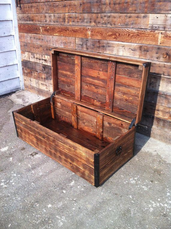 Best 20 wood chest ideas on pinterest pallet chest for Reclaimed pallet wood projects