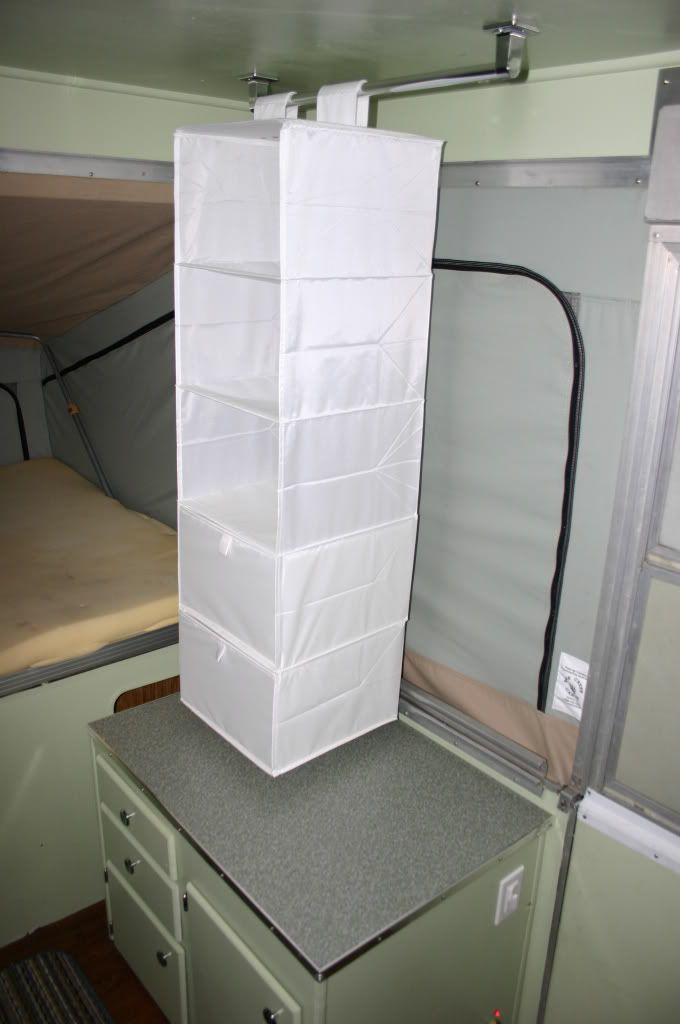 Idea For Clothes And Shoe Storage That Stays In The Camper After - Closet ideas for tent camping