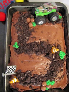 School Time Snippets: Monster Truck Themed Birthday Cake- for age 5