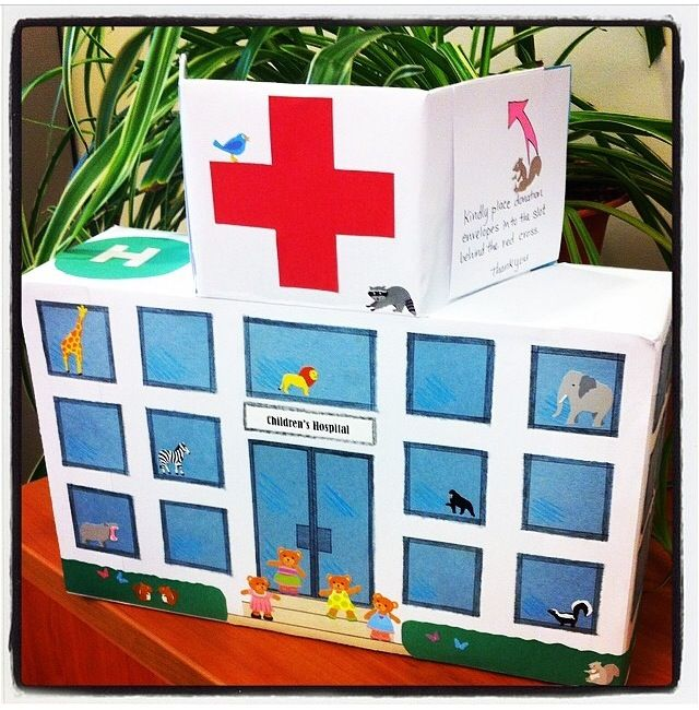 Four kids raised funds by combining their birthday parties, and asking loved ones to donate to the kids at BC Children's Hospital rather than bringing a gift. This is the cool donation box they made for guests to leave their donation cards in! For more info on the Sunny Bear Birthday Club visit: bcchf.ca/sunnybearbirthdayclub