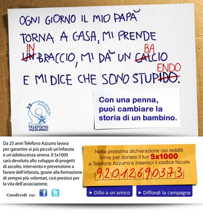 Vota anche tu questa campagna email candidata al Non Profit Email Award 2012