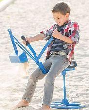 Tough Kid Sandbox Backhoe Digger (blue) Heavy Duty working ride-on toy crane