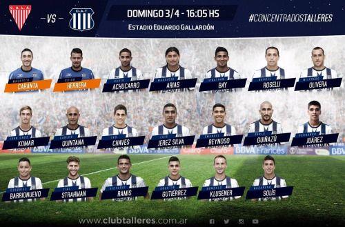 Los jugadores que concentran para el partido del domingo ante...  Los jugadores que concentran para el partido del domingo ante Los Andes Vamos #Talleres!