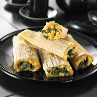 Vegetarian Spinach Mushroom Tamales by @mytexaslife