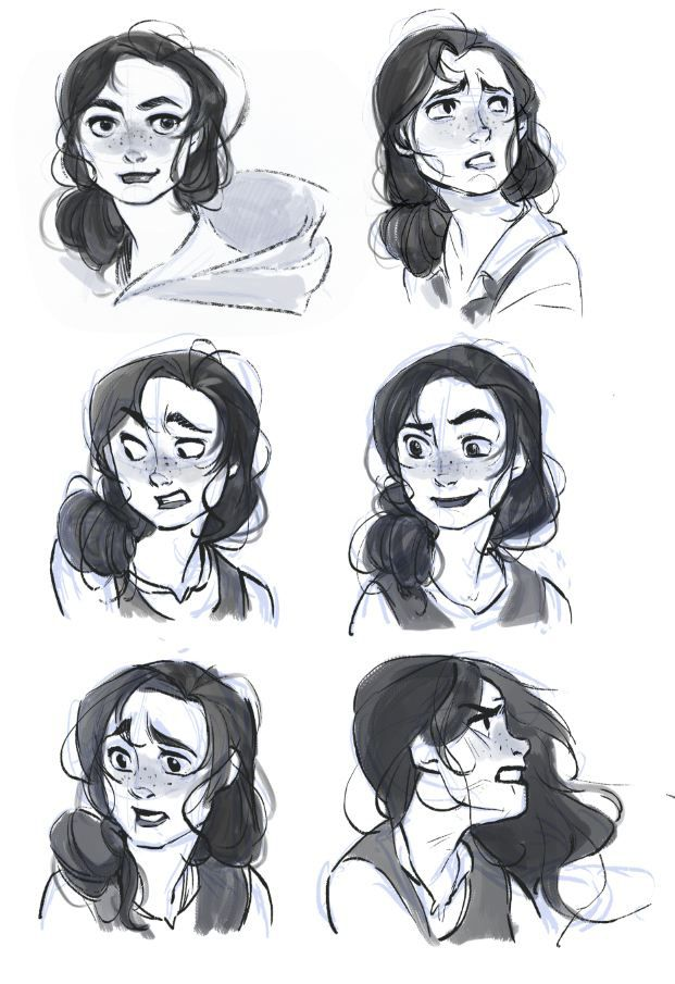 expression sheet for my ongoing project! The heroin need some fixes but here is the first pass!
