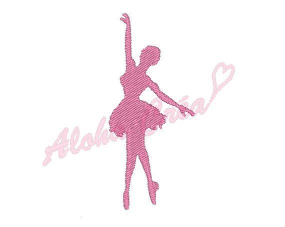 Motif broderie machine silhouette danseuse étoile 4 par AlohaCrea