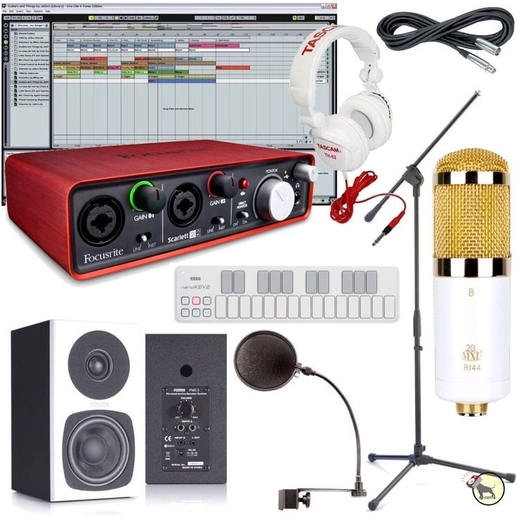 Special Edition Home Recording Studio Bundle Mic Monitors Headphones Keyboard