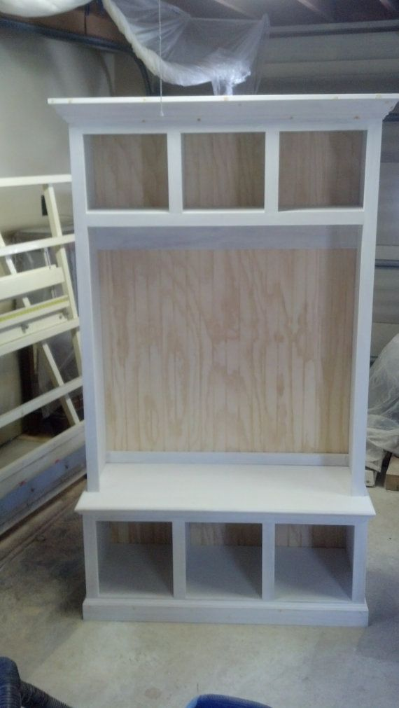 44 Quot Wide Beadboard Hall Tree With Storage Cubbies