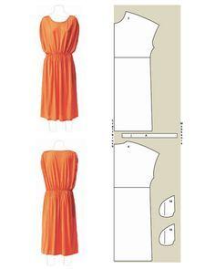 Tunic Dress sectional drawing