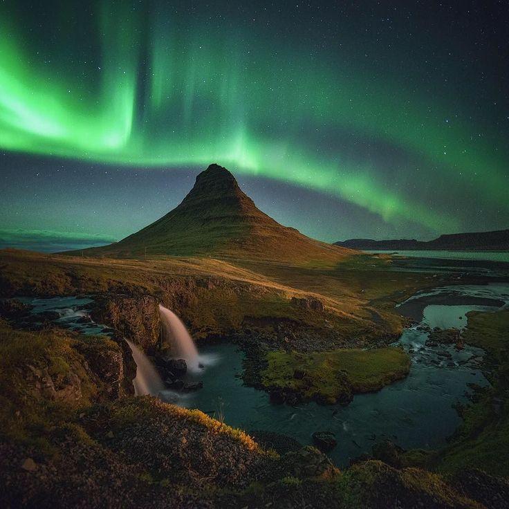 I photographed the Aurora over Kirkjufell in Iceland [OC][1748x1748] #arya #love #instagood #photooftheday #beautiful