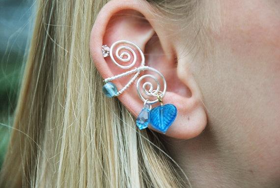 Silver Ear Cuff Winter Fairy Jewelry Fantasy by TheBohemianFaerie, $18.00