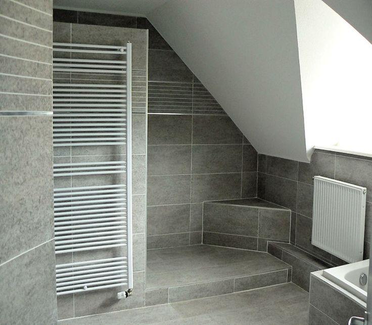 for Idee deco salle de bain sous pente