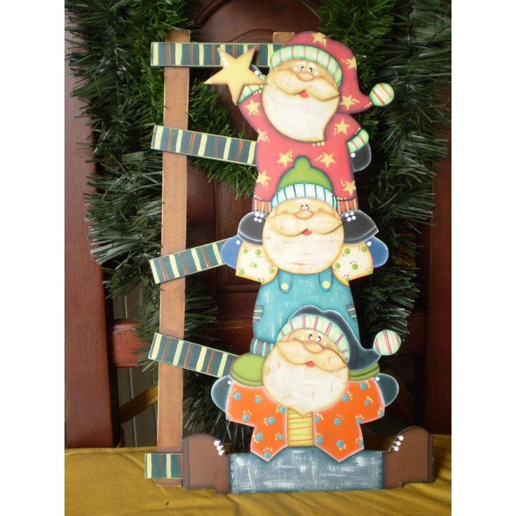 diseños de madera navideños pintadas a mano - Buscar con Google