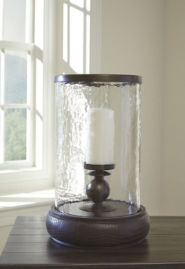 Ashley Obiareus Brown Candle Holder
