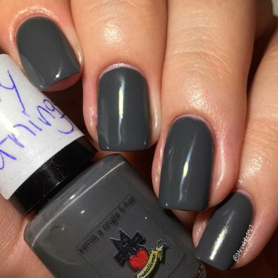 Check out this item in my Etsy shop https://www.etsy.com/listing/230421690/misty-mornings-dark-grey-nail-polish