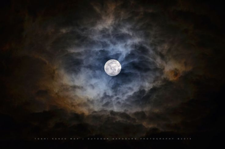 The Moon and the Reflection on Clouds by TOSHI KENZO MDP™