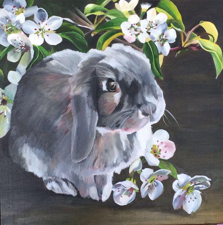 'Flora and Fauna' Emma Targett 45 x 45cm acrylic on canvas www.emmatargett.com