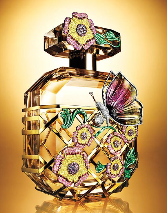 Victoria's Secret perfume bottle drool... with notes of purple passion fruit, Shangri-la peony and vanilla orchid.