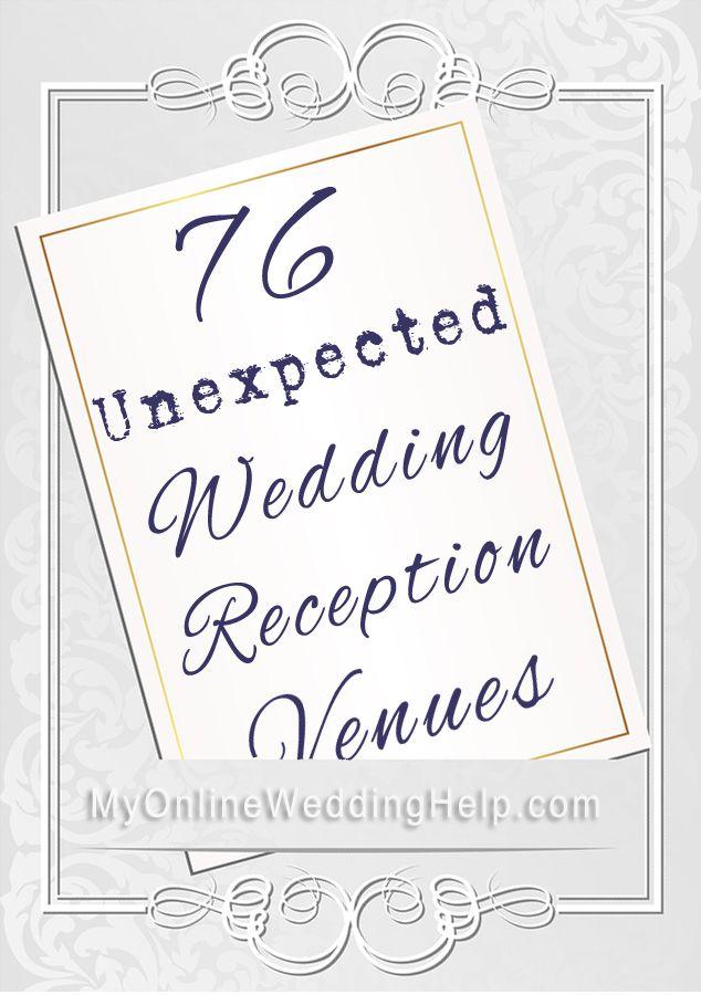 Unique Wedding Reception Venue Ideas. Pin now, look at with fiancee later. #MyOnlineWeddingHelp