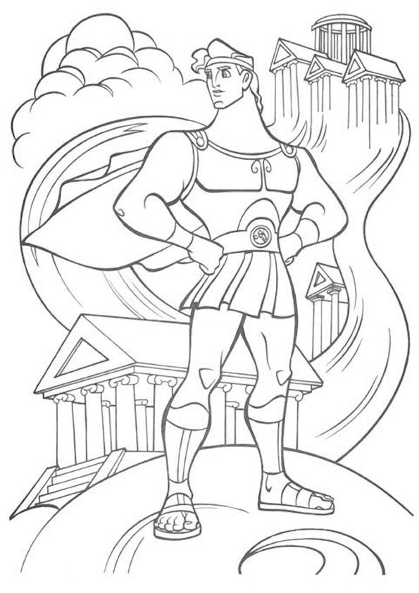 54 best hercules colouring pages images on Pinterest  Disney