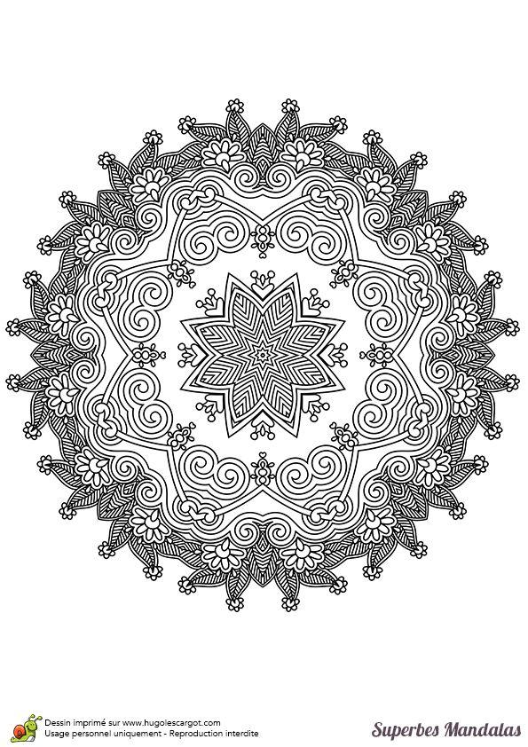 Coloriage d un superbe mandala de haut niveau tr s - Colorier un mandala ...