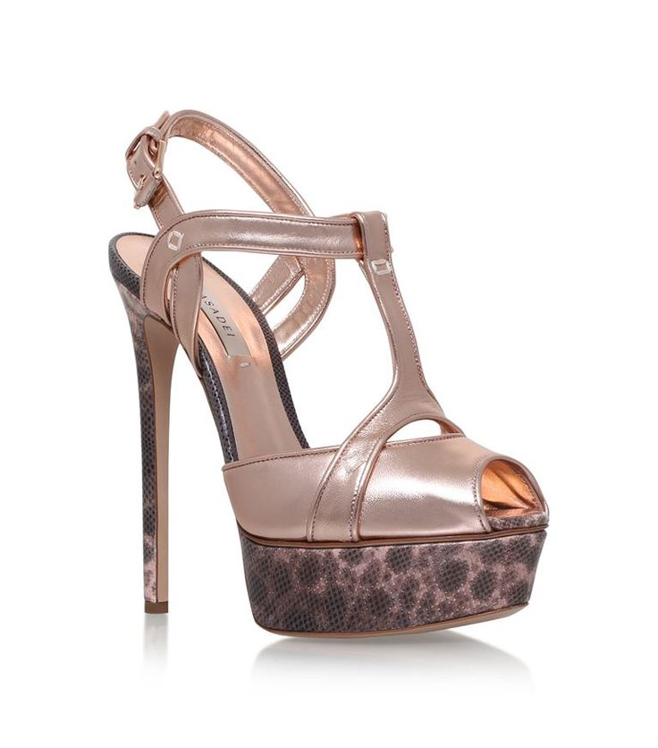 Shoes: Sandals Casadei Leather Isabella Platform Sandals 140