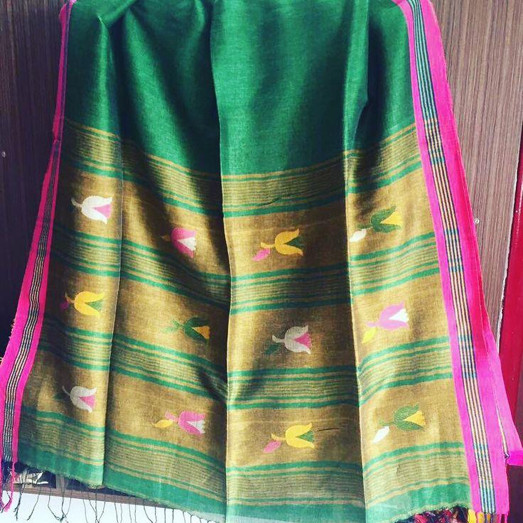 Linen#saree#jamdani
