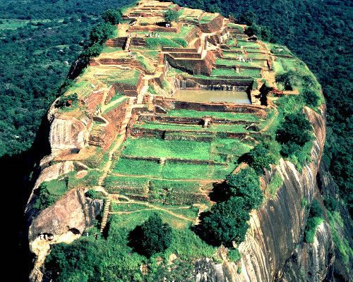 Sigiriya, the Lion Rock citadel,Sri Lanka - The Royal Citadel of King Kasyapa (479-496 AD) A world heritage Site