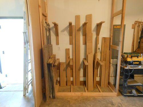 25 best ideas about lumber storage on pinterest lumber for Vertical lumber storage rack
