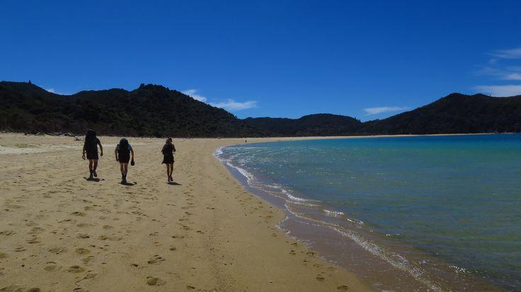 The breathtakingly beautiful Onetahuti Beach in Abel Tasman National Park