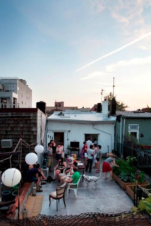rooftop potluck every weekend...on fridays we wear pink