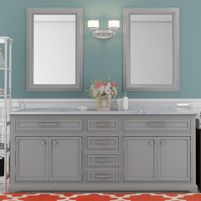 Bergin 60 Double Bathroom Vanity Set With Images Double
