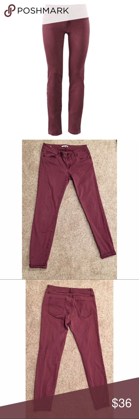 CAbi Bordeaux Skinny Jeans In good condition CAbi Pants Skinny