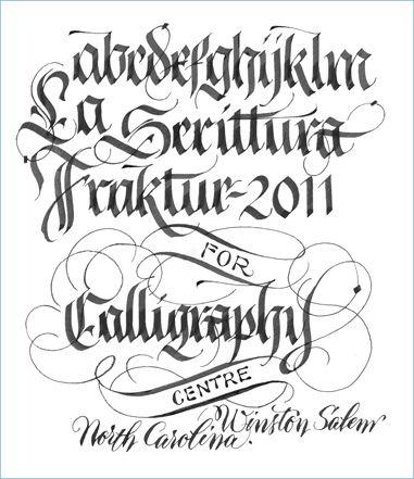 Fraktur Calligraphy Alphabet Images