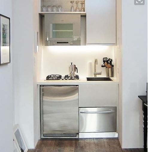 This would be size of my laundry. I'd like to put dishwasher under sink and front load washer beside it (where fridge is here) with cupboards/shelves above. like tapware here too. this is the closest I've seen to my dishwasher idea. might need to stick with white benchtop because of size .... like lighting too
