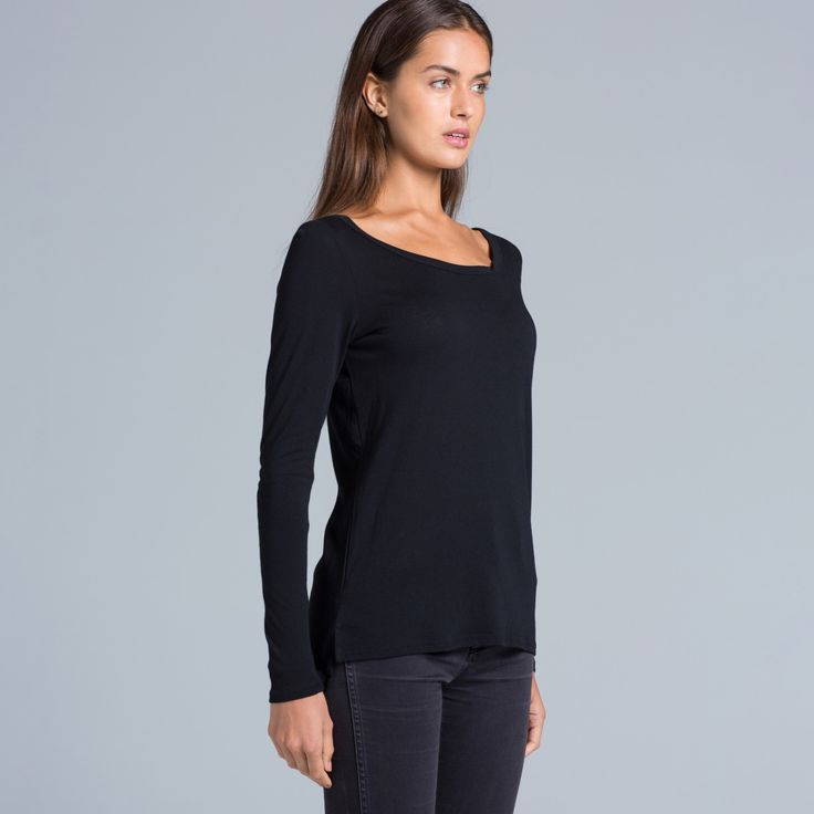 Stella Longsleeve Tee 4017 - 50% Cotton / 50% Modal available in 4 colours.
