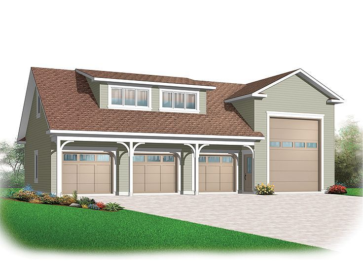 74 best images about 3 car garage plans on pinterest 3 for 3 car garage with loft apartment