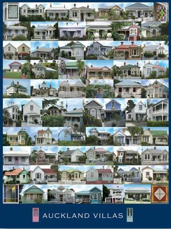 Auckland Villas Poster for Sale - NZ Photography Posters