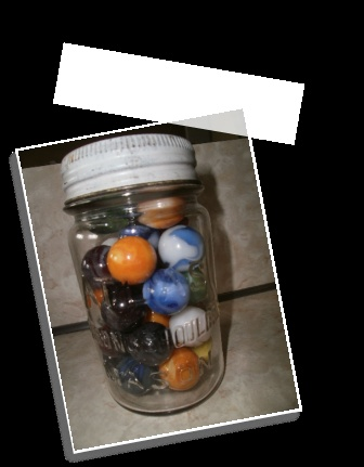 Antique Marbles With Antique Mason Jar  http://www.littledalestore.com/antique%20marbels.html