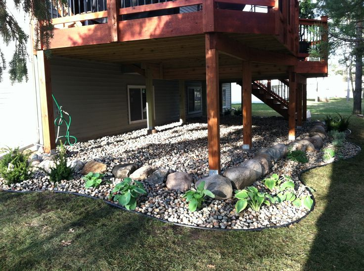 What Plants Will Grow Under A Deck : Deck patio porch ideas skirting under decks outdoor