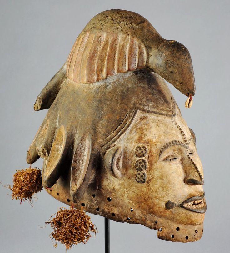 Masque Jeune Femme et oiseau IGBO Nigeria IBO Maiden bird Mask MC0623