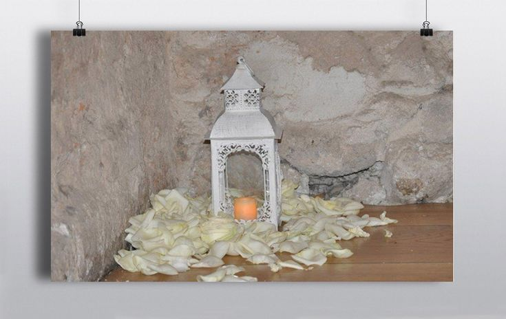 Intricately designed Vintage White Lantern with Candle. Can be used for almost any element of your wedding day; along a stairs or wedding aisle, as a centre piece for a table or simply placed at random point around your venue as pictured http://www.prophouse.ie/portfolio/vintage-white-lantern/