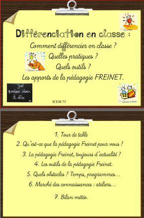 Freinet : animation pédagogique autour de la différenciation en classe