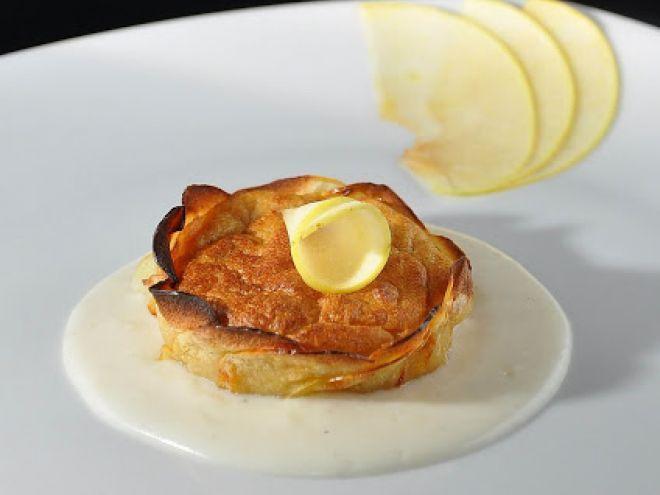 Ricetta Antipasto : Mousse di san daniele e patate in sfoglia di mele da Peperoniepatate