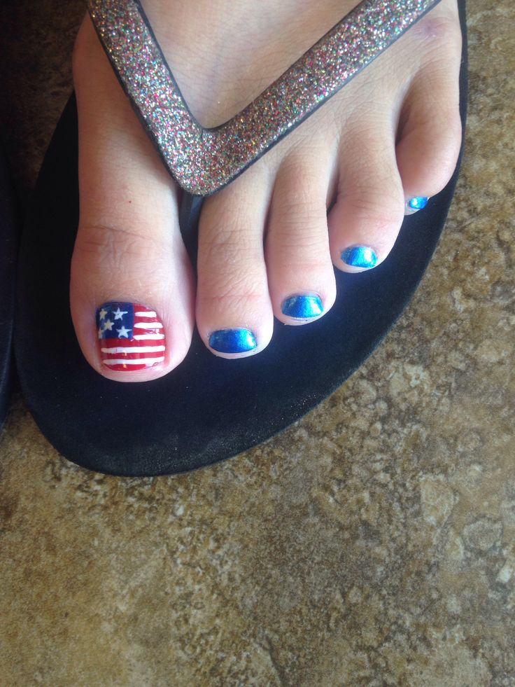 Fouth of July nails
