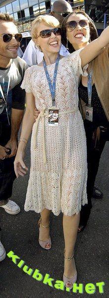 Платье Кайли Миноуг. Крючок
