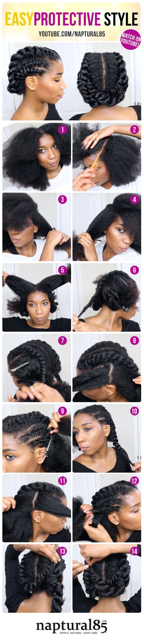 Naptural85 - Trying this hairstyle ASAP ManeGuru.com  Natural Hairstyles: Bantu Knots, Afros, Twist outs, Protective Styles   Visit ManeGuru.com for more!