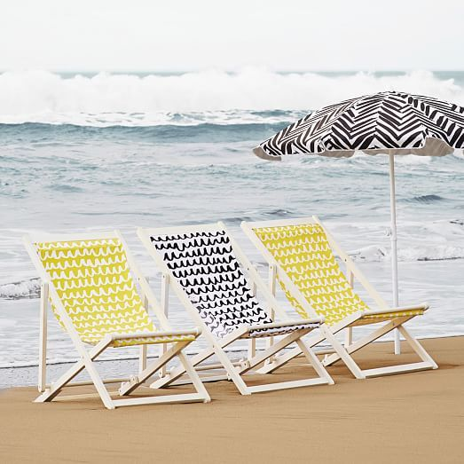 On major sale - Sling Chair - White/Yellow   west elm